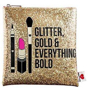 Sephora glitter gold & everything bold makeup bag